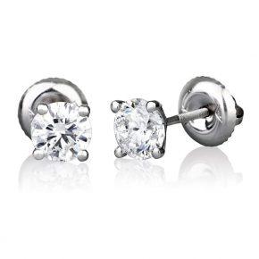 עגילי יהלומים קלאסיים