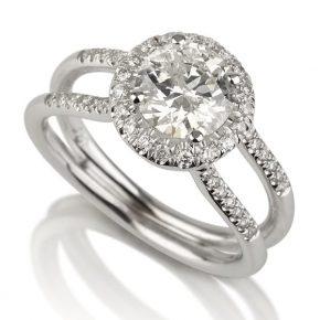 טבעת יהלומים AJR536