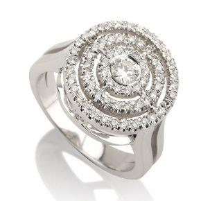טבעת יהלומים AJR549