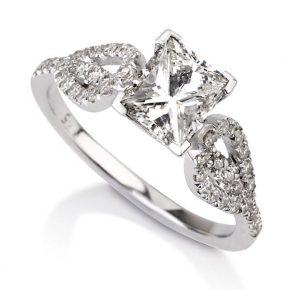 טבעת יהלום פרינסס AJR568