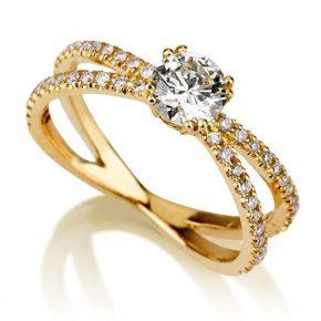 טבעת יהלומים AJR573
