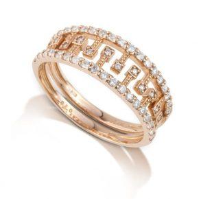 טבעת יהלומים משולבת