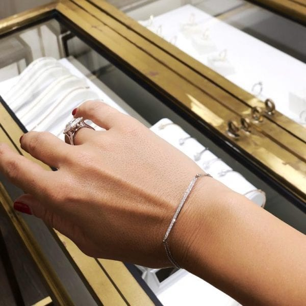 צמיד יהלומים זהב לבן מעוצב