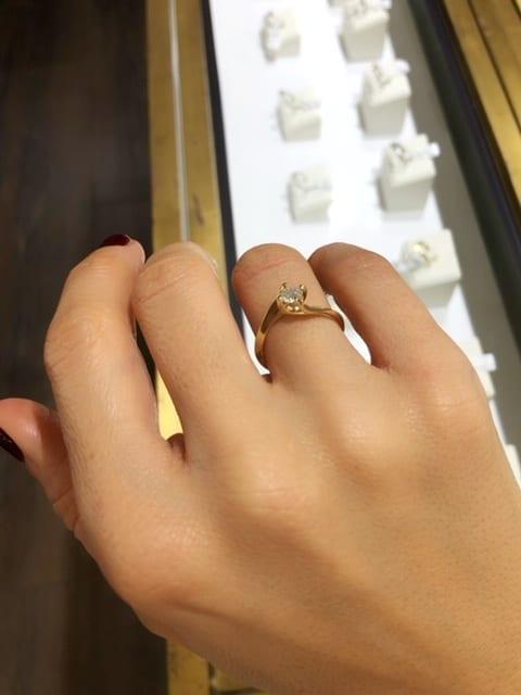 טבעת אירוסין יהלום