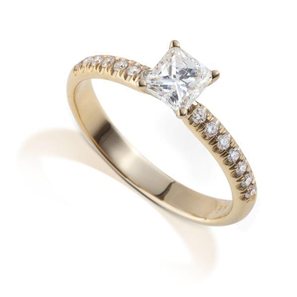 טבעת יהלום פרינסס AJR101