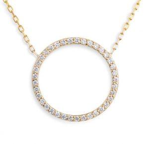 תליון יהלומים מעגל החיים P5034