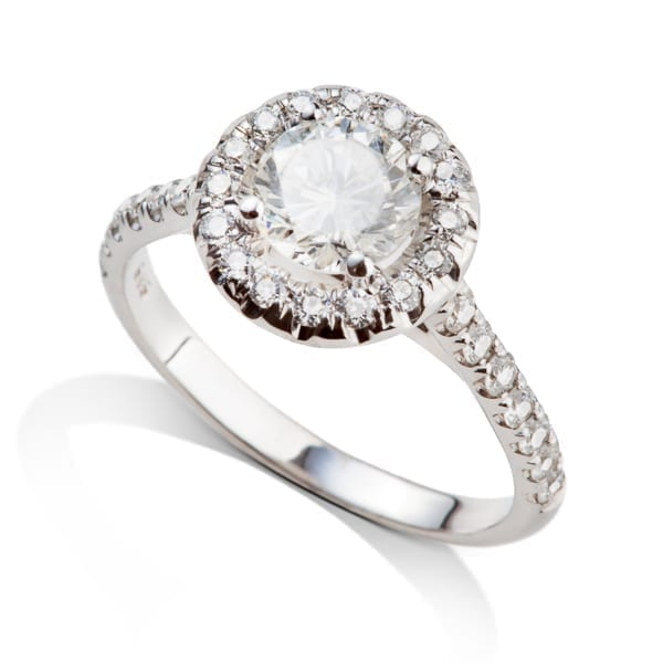 טבעת יהלומים היילו