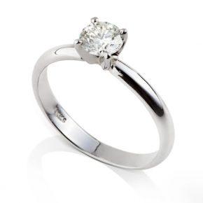 טבעת סוליטר - טבעת אירוסין סוליטר שיבוץ מרכזי