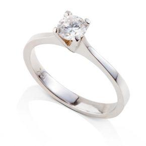 טבעת אירוסין יהלום 4 שיניים