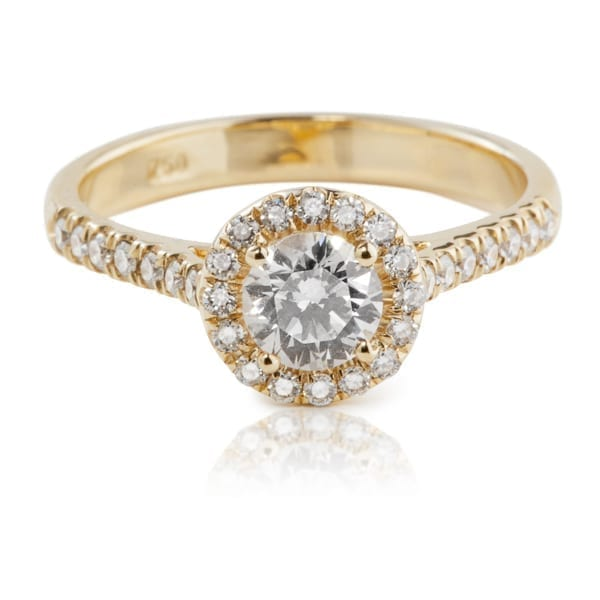 טבעת יהלומים HALO