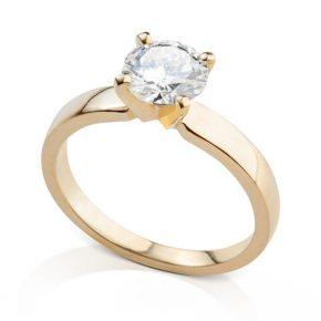טבעת יהלום 1 קראט AJR5017