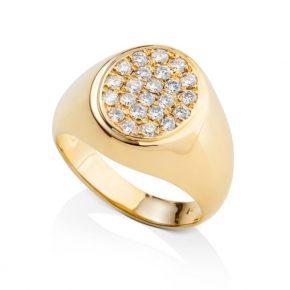 טבעת חותם יהלומים AJR5020