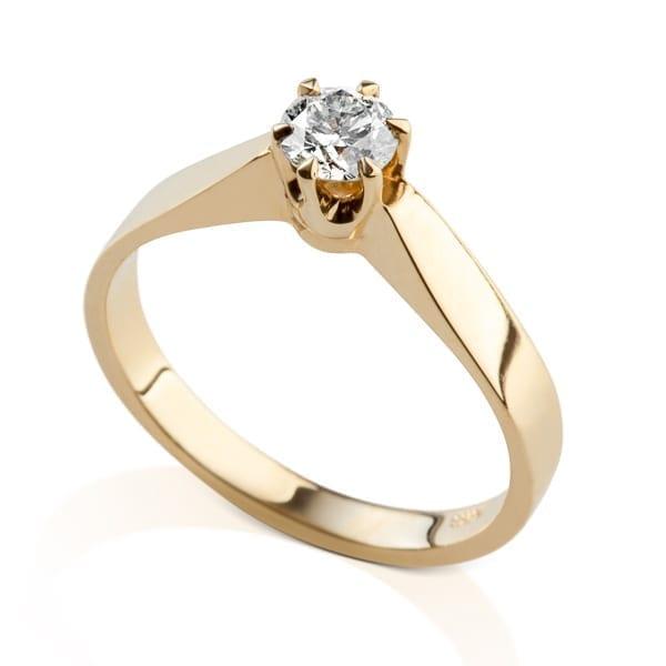 """טבעת אירוסין זהב צהוב החל מ2,500 ש""""ח"""
