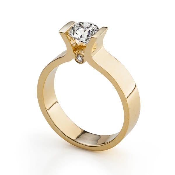 טבעת יהלום צף