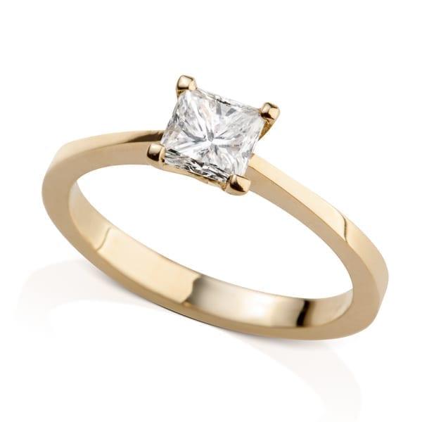טבעת אירוסין פרינסס זהב