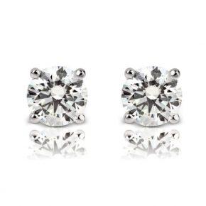 עגילי יהלומים AJE5044