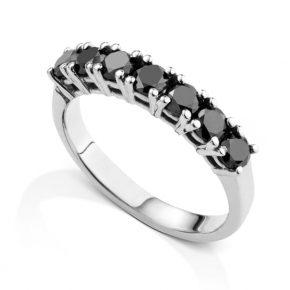 טבעת יהלומים שחורים AJR5075