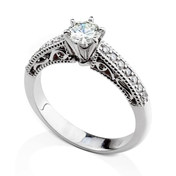 טבעת יהלומים וינטאג'