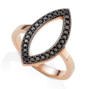טבעת יהלומים שחורים AJR5097