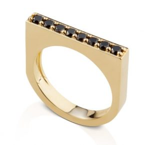 טבעת יהלומים שחורים AJR5105