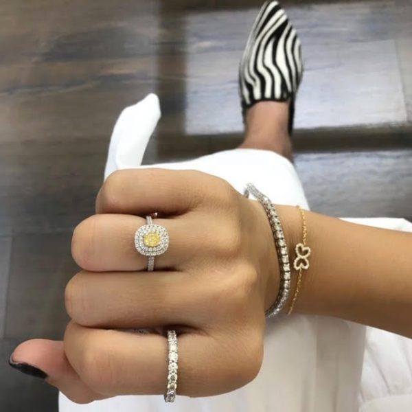 צמיד פרפר יהלומים