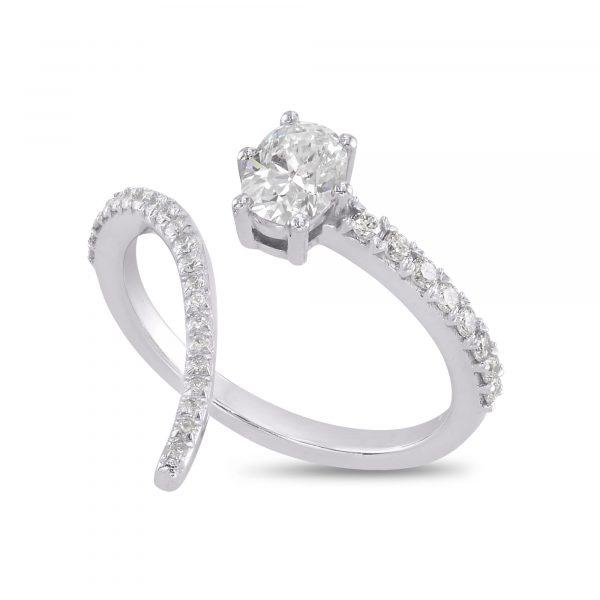 טבעת יהלום אובל AJR5118