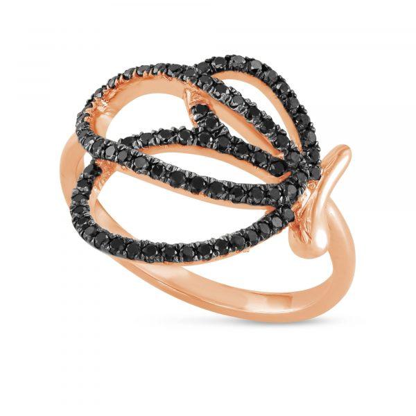 טבעת יהלומים שחורים AJR5127