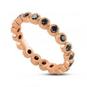 טבעת יהלומים שחורים איטרנטי
