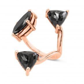 טבעת יהלומים שחורים AJR5132