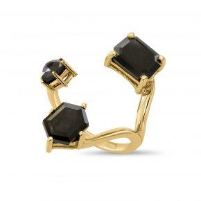 טבעת יהלומים שחורים AJR5134