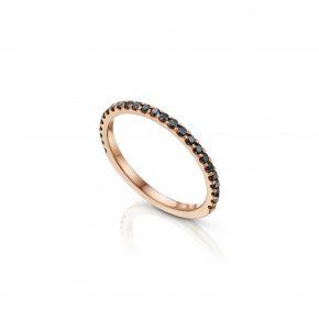 טבעת יהלום שחור - איטרניטי בזהב אדום