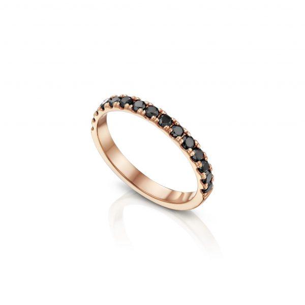 טבעת יהלומים שחורים AJR5114