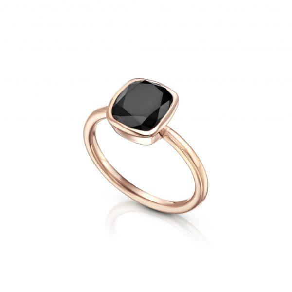 טבעת יהלום שחור AJR5175