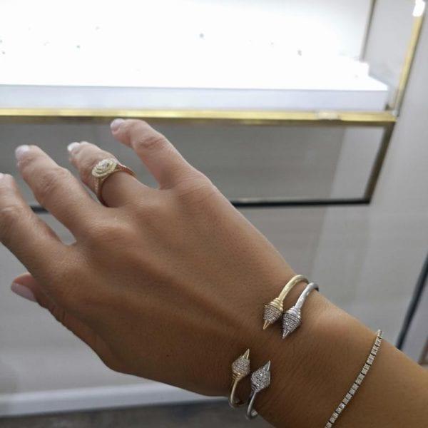 צמיד יהלומים זהב