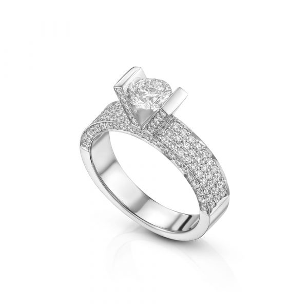 טבעת אירוסין 125 יהלומים