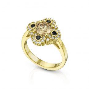 טבעת יהלומים קוניאק