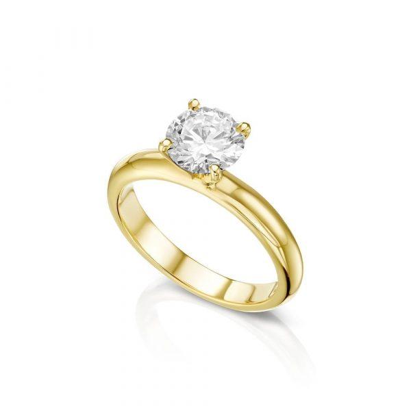 טבעת יהלום אירוסין קלאסית
