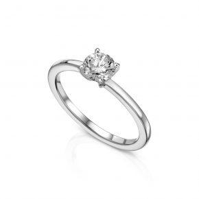 טבעת אירוסין יהלום מעוצבת