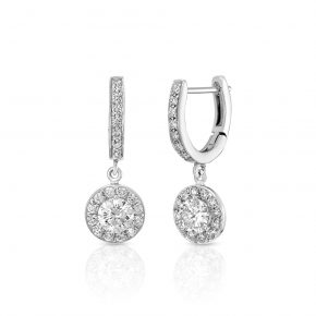 עגילי יהלומים AJR5037