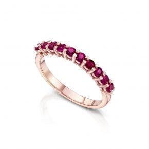 טבעת אבני רובי AJR5221