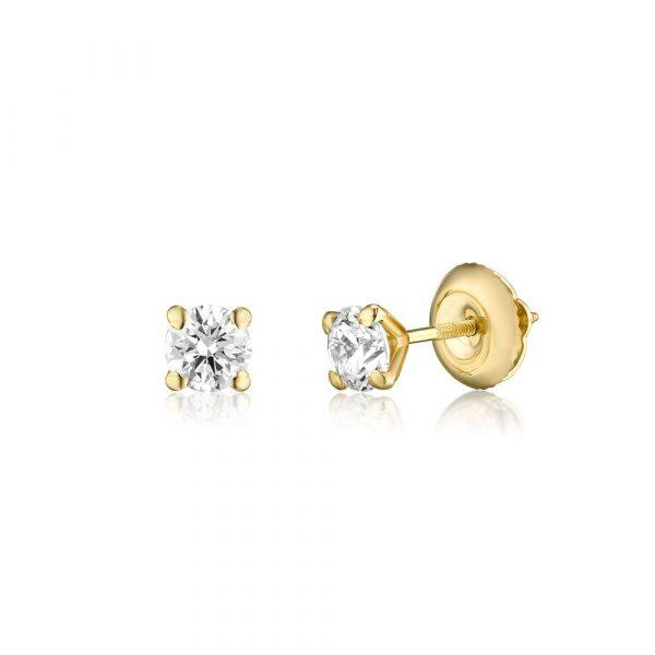 עגילי יהלומים AJR5292