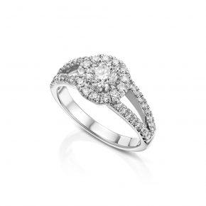 טבעת יהלומים מעוצבת וייחודית
