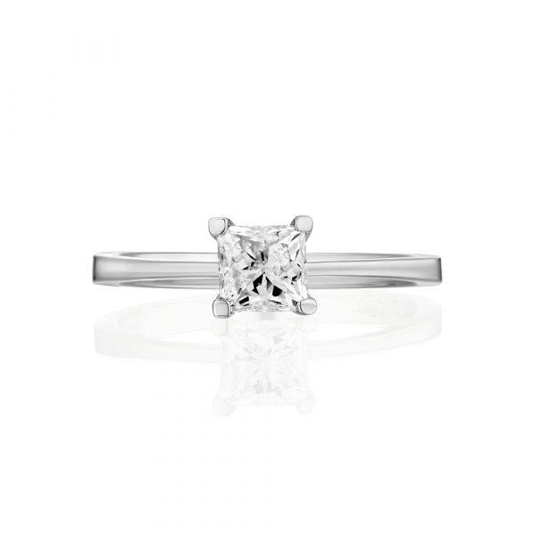 טבעת יהלום פרינסס