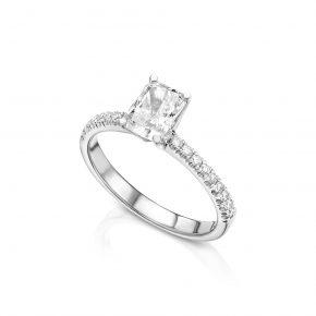 טבעת יהלומים רדיאן 1 קראט
