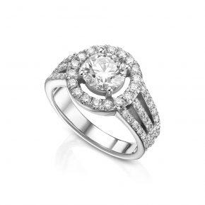 טבעת 2 קראט יהלומים