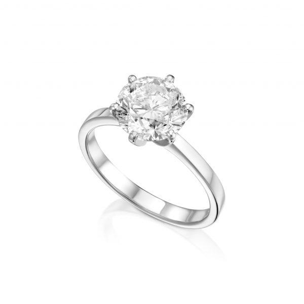 טבעת יהלום 2.25 קראט