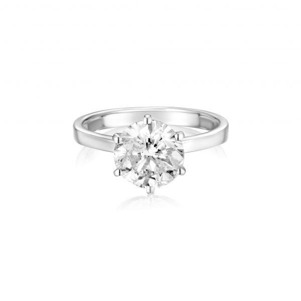 טבעת יהלום 2.04 קראט