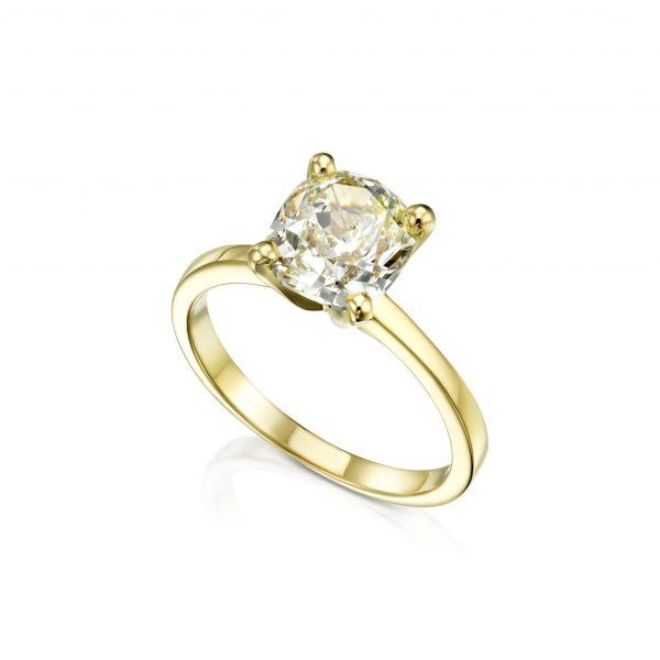 טבעת יהלום 2 קראט פנסי