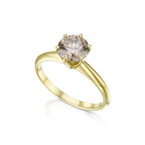 טבעת יהלום קוניאק 1.50 קראט