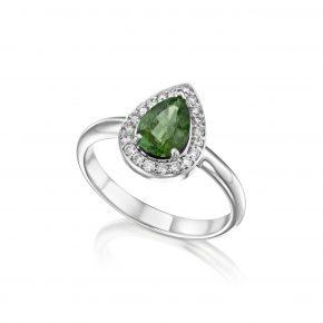 טבעת טיפה טורמאלין